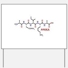 Anika name molecule Yard Sign