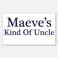 Maeve Kind of Uncle Rectangle Decal