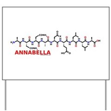 Annabella name molecule Yard Sign