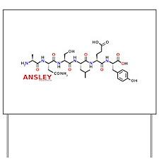 Ansley name molecule Yard Sign