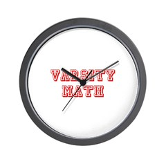 Varsity Math Wall Clock