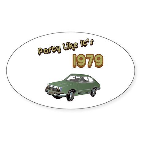 Party Like It's 1979 Oval Sticker