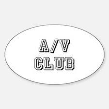 A/V Club Oval Decal