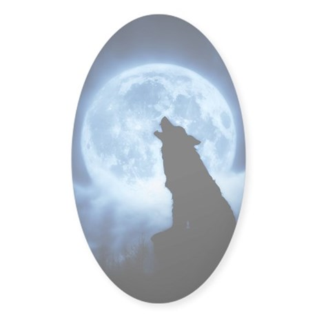 Cries of the Night Sticker (Oval)