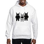 Schnauzer Nose/Butt Hooded Sweatshirt