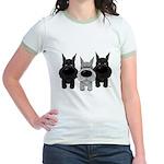 Schnauzer Nose/Butt Jr. Ringer T-Shirt