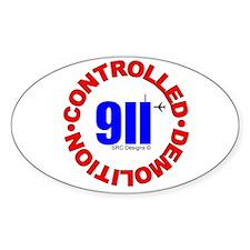 911 CONSPIRACY CONTROLLED DEM Oval Sticker (10 pk)