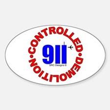 911 CONSPIRACY CONTROLLED DEM Oval Decal
