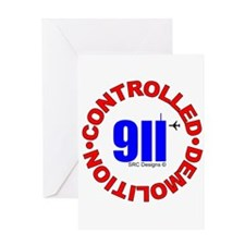 911 CONSPIRACY CONTROLLED DEM Greeting Card