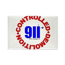 911 CONSPIRACY CONTROLLED DEM Rectangle Magnet (10