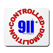 911 CONSPIRACY CONTROLLED DEM Mousepad