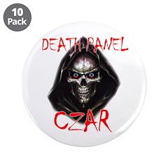 "Obama's Death Panel Czar 3.5"" Button (10 pack"
