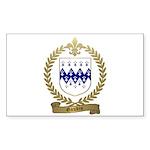 GAUDIN Family Crest Rectangle Sticker 10 pk)