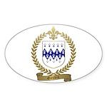 GAUDIN Family Crest Oval Sticker (10 pk)
