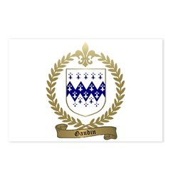 GAUDIN Family Crest Postcards (Package of 8)