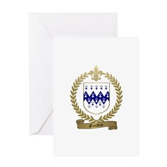 GAUDIN Family Crest Greeting Card