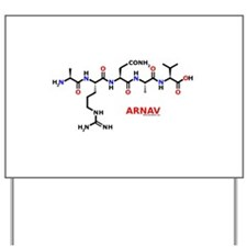 Arnav name molecule Yard Sign