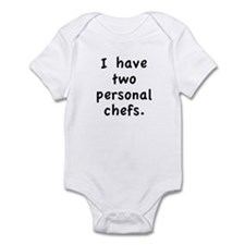 """""""Two Personal Chefs"""" Infant Bodysuit"""