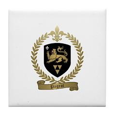 PAGEOT Family Crest Tile Coaster