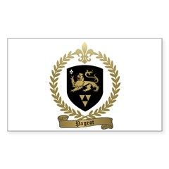 PAGEOT Family Crest Rectangle Decal