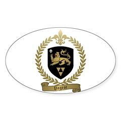 PAGEOT Family Crest Oval Sticker