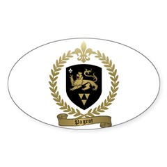 PAGEOT Family Crest Oval Decal