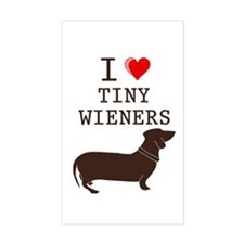 Tiny Wiener Dachshund Rectangle Decal