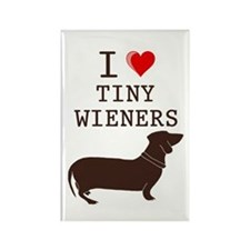 Tiny Wiener Dachshund Rectangle Magnet