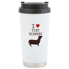 Tiny Wiener Dachshund Travel Mug