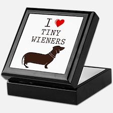 Tiny Wiener Dachshund Keepsake Box