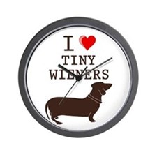 Tiny Wiener Dachshund Wall Clock