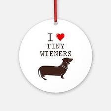 Tiny Wiener Dachshund Ornament (Round)