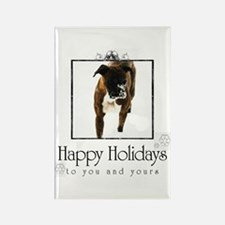 Boxer Holiday Rectangle Magnet