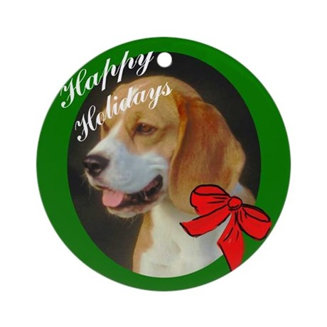 Beagle Christmas Ornament (Round)