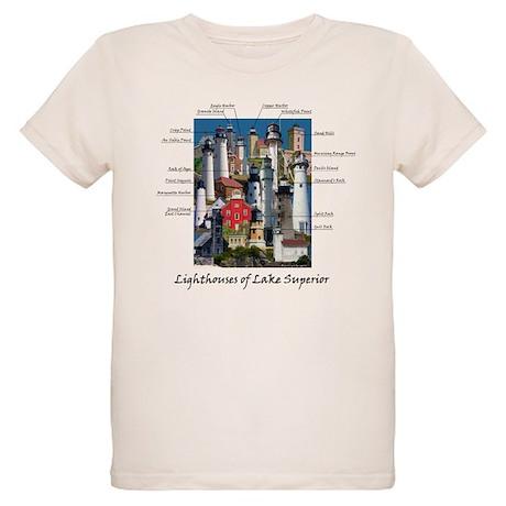 Lighthouses of Lake Superior Organic Kids T-Shirt