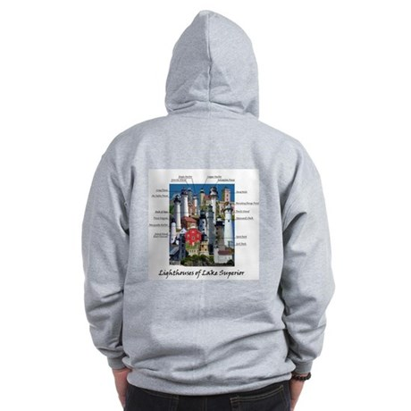 Lighthouses of Lake Superior Zip Hoodie