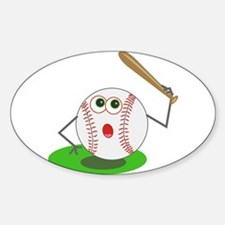 BaseBall Jock! Oval Decal