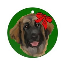leonberger puppy wag Ornament (Round)