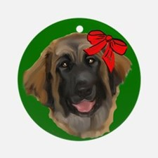 leonberger puppy wag Ornament (Round)