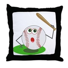 BaseBall Jock! Throw Pillow