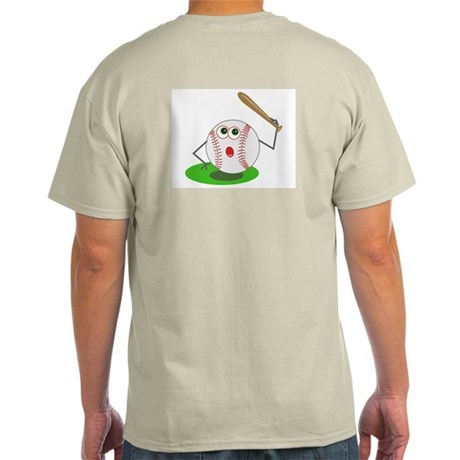 BaseBall Jock! Ash Grey T-Shirt