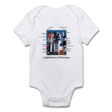Lighthouses of Michigan Infant Bodysuit