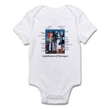 Lighthouses of Michigan Onesie