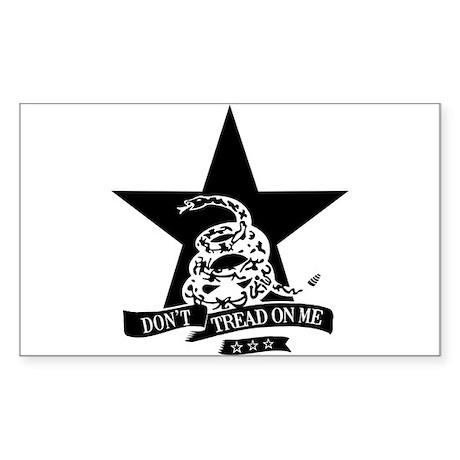 Dont Tread Star Rectangle Sticker