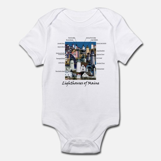 Lighthouses of Maine Infant Bodysuit