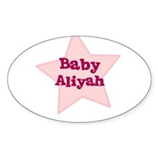 Baby Aliyah Oval Decal