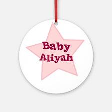 Baby Aliyah Ornament (Round)