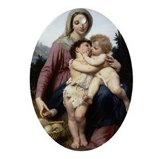 The Holy Family Oval Ornament- William Bouguereu