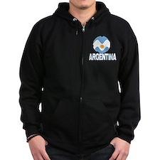 Argentina World Design Zip Hoodie