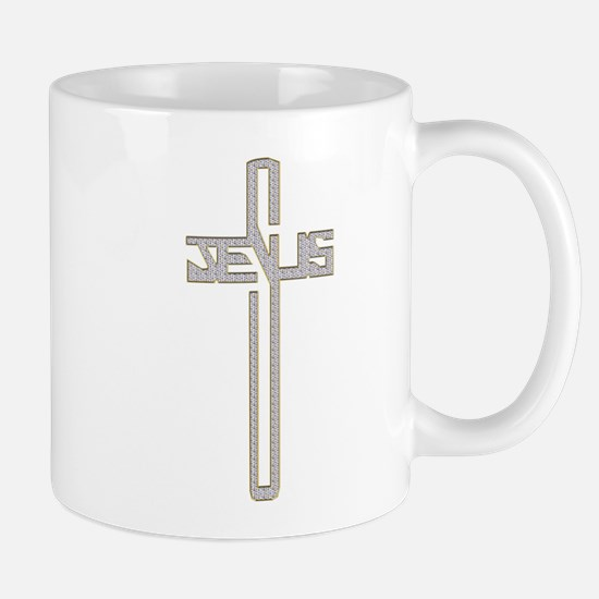 Gold Diamond Jesus Cross Mug